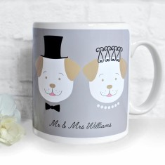 Personalised Fido Wedding Mug