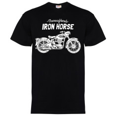 Iron Horse men's black short sleeved t-shirt