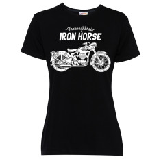 Iron horse women's black short sleeved t-shirt