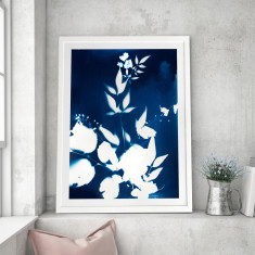 Drifting Blues Framed Art