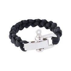 Shackle cuff bracelet in black