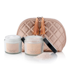 Wash Bag + Peaches & Cream Body Souffle + Soak