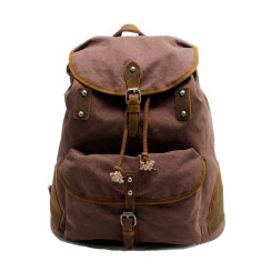 Canvas backpack travel bag