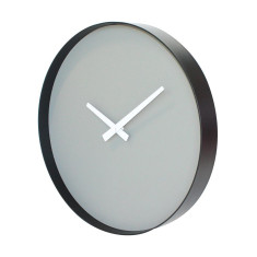 Puristic wall clock in grey and black