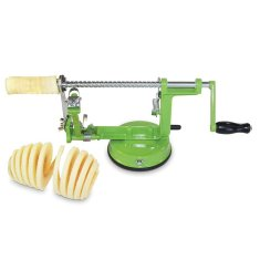 Apple or potato slinky slicer and peeler
