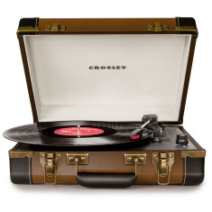 Crosley Executive USB Portable Turntable - Brown