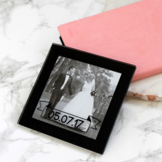 Personalised Wedding Mini Photo Coaster