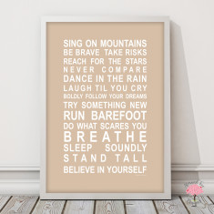 Sing on mountains art print