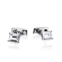Emerald Cut Swarovski Crystal Cufflinks - Petite