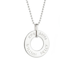 Isobel personalised sterling silver pendant