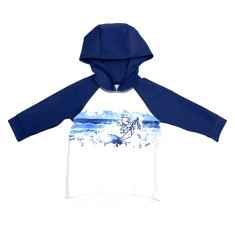 Ocean blitz baby hooded sun top