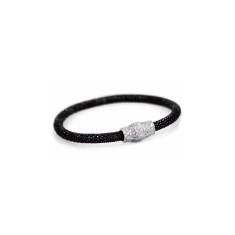 Black rhodium mesh bracelet