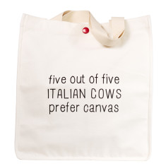 Italian cows canvas tote