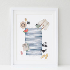 Day at the beach print
