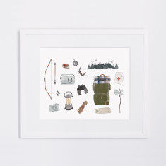 Let's go on an adventure illustrated print