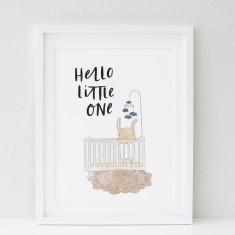 Baby Crib print