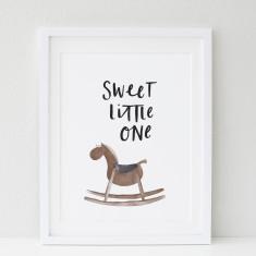 Baby Rockinghorse print