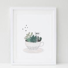 Yay Teacup print