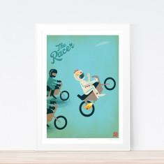 Racer motorbike art print
