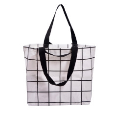 Shopper bag in lines