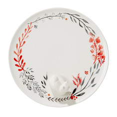 Fox Ceramic Sweets Plate