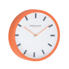 London Clock Company Pop Orange Silent Wall Clock