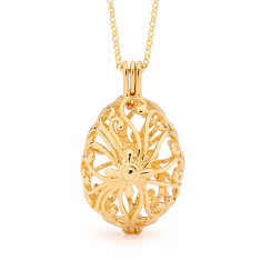 Tranquility Gold Perfumed Necklace