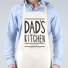 Dad's kitchen personalised apron