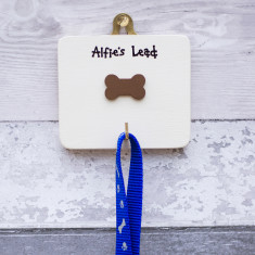 Personalised Dog Lead Hook Plaque