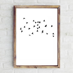 Flying birds print