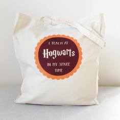 I teach at Hogwarts teacher tote bag