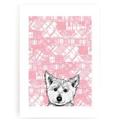 Tartan Westie art print