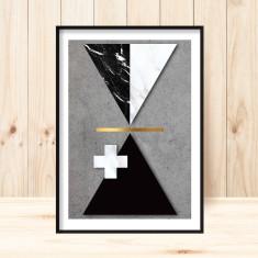 Concrete & marble geometric art print