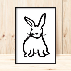 Flopsy rabbit children's art print (more colours)