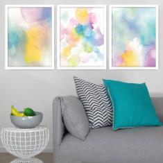 Summer Rain art prints (set of 3)