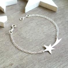 Personalised Sterling Silver Shooting Star Bracelet