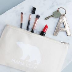 Personalised Mama Bear Makeup Bag
