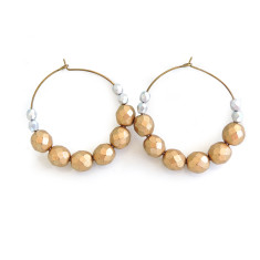 Matt Czech Glass beaded hoop earrings