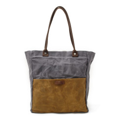 Canvas Waterproof Tote/Shopping Bag Grey