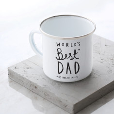 World's Best Dad Enamel Mug