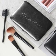 Personalised Make Up Brush Set Black