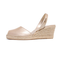 Brava leather sandals in champagne