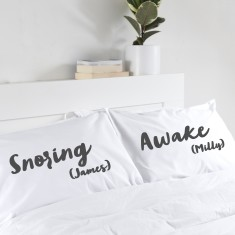 Couple's Personalised Pillowcases (Set Of Two)