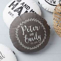 Personalised Round Anniversary Cushion