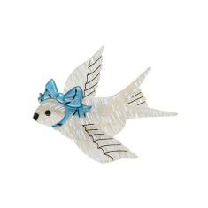Erstwilder bluebird of celebration brooch