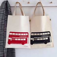 London bus canvas bag