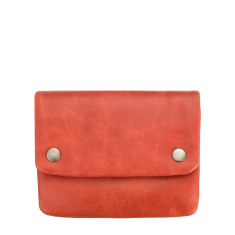 Norma leather wallet in red