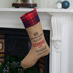 Personalised Letterpress Christmas Stocking