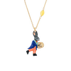Cymbal player little rabbit necklace