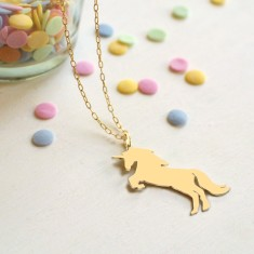 Personalised Gold Unicorn Necklace